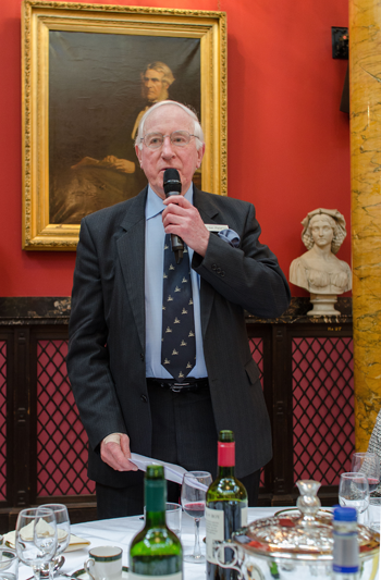 The Club Chairman at the Annual Guest Lunch, 2016.