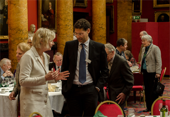 A lively conversation at the Annual Guest Lunch, 2017
